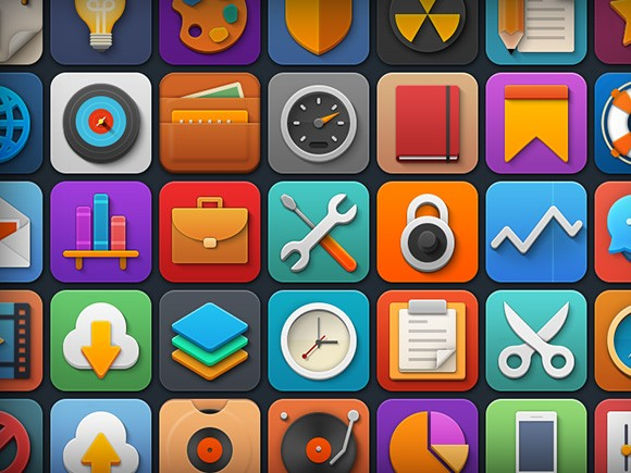 Softies – 44 Free PSD Icons