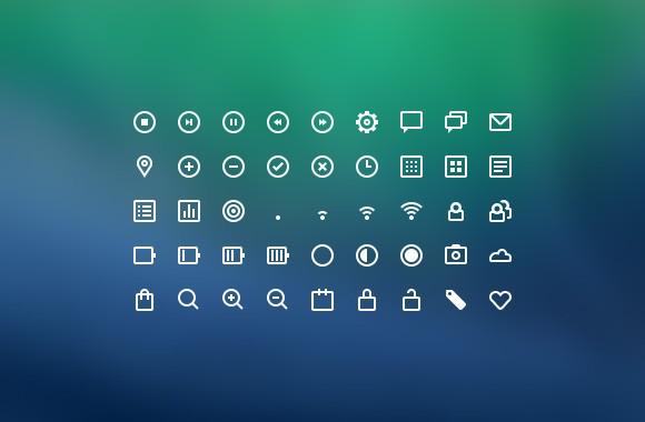 45 UI Icons PSD