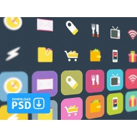 Ficons – Free Set Of 10 Colorful Icons