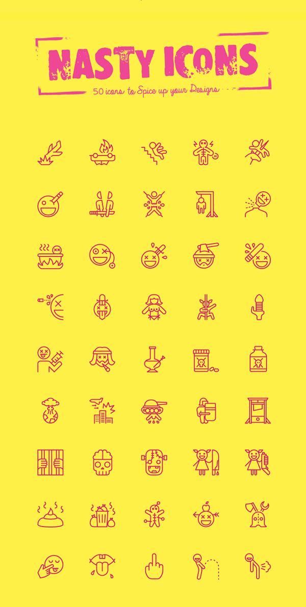 Nasty Icons: 50 Icons Set