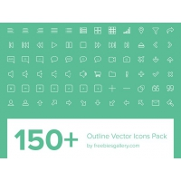 150+ Outline Vector Icons