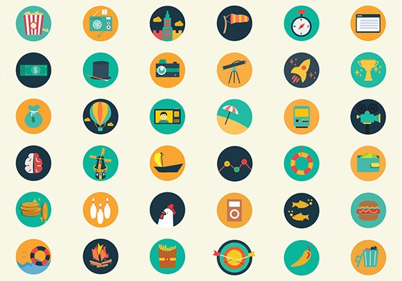 Meroo Icons – 110 Flat Coloured