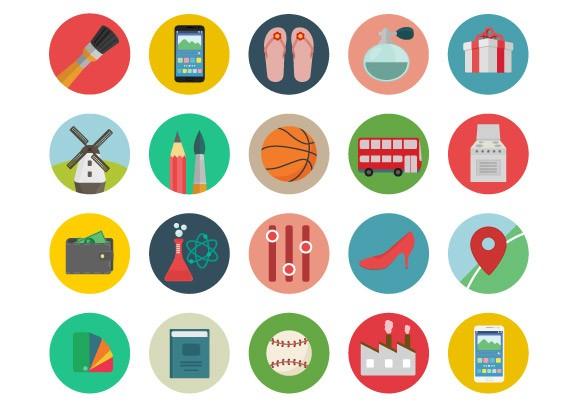 Roundicons – 60 Free Coloured Icons