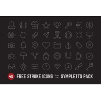 40Free Stroke Icons From Sympletts Pack