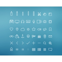 Hangloose – 50 PSD Thin Icons