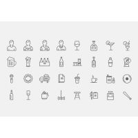32 Bar Icons free PSD