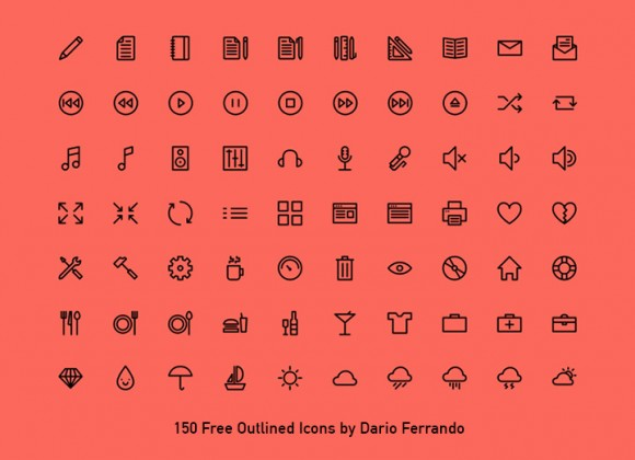 50 Outlined Icons