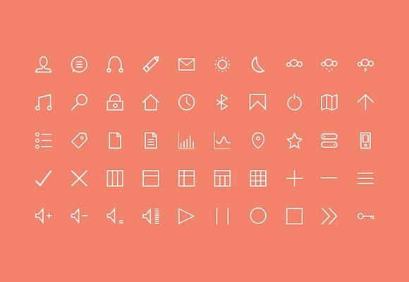 50 Free Stroke Icons