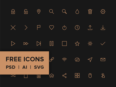 80 Stroke Icons