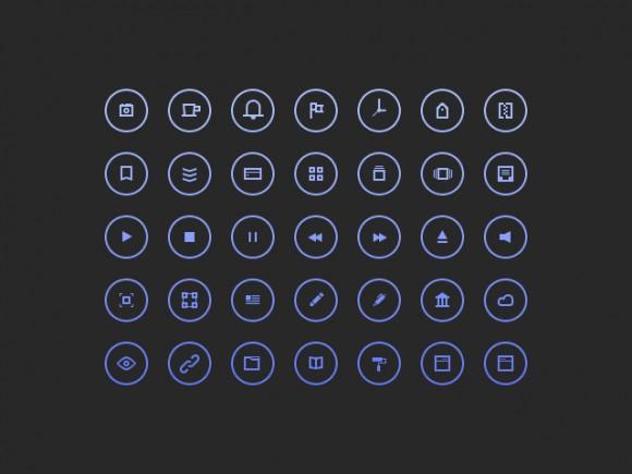 CirCuLar Icons PSD