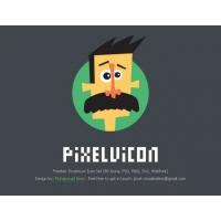 Pixelvicon – 80 Free Icons + Webfont