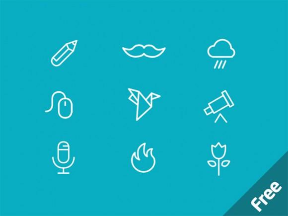 MiniCONS – 40 Free PSD Icons