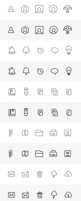 Free Download Wireframe Icons