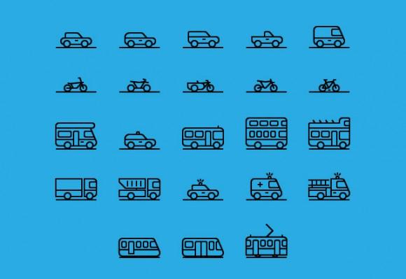 71 Transportation Icons PSD