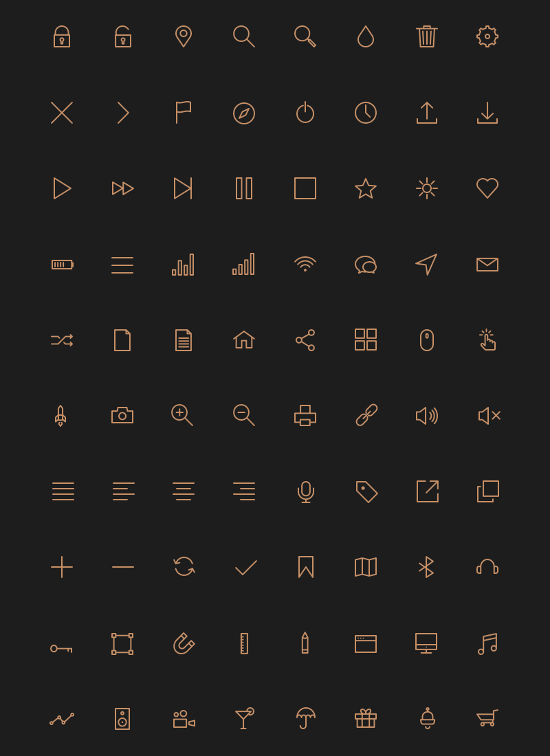 Free 80 Crispy Icons In PSD, AI, SVG & Webfont