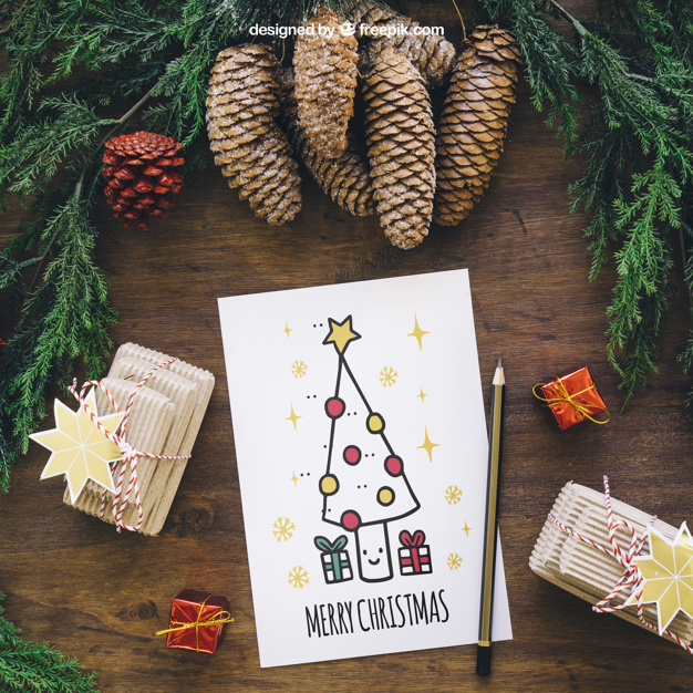 Christmas Mockup With Card