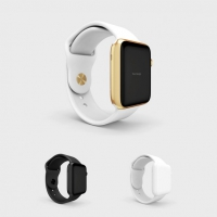 Smartwatch Mock Up With White Watchstrap