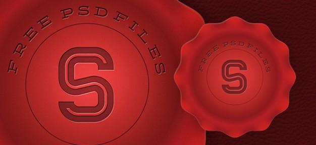 Red Stamp Graphic Design