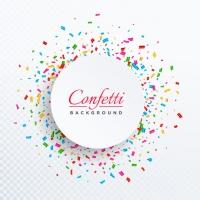 Circular Confetti Background