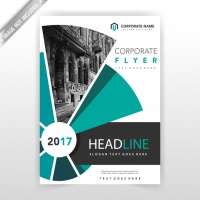 Abstract Flyer Cover Layout