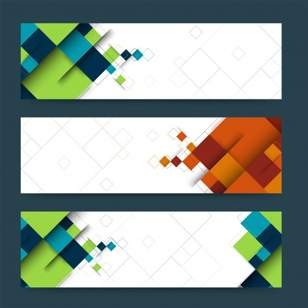 Abstract Header Or Banner Set