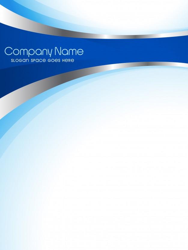 Modern Blue Company Flyer Template