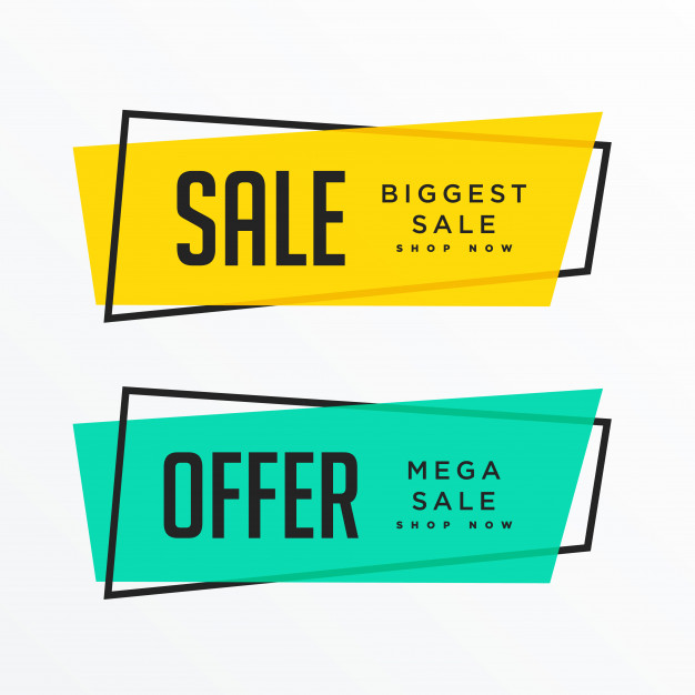 Geometric Sale Banners With Text Space