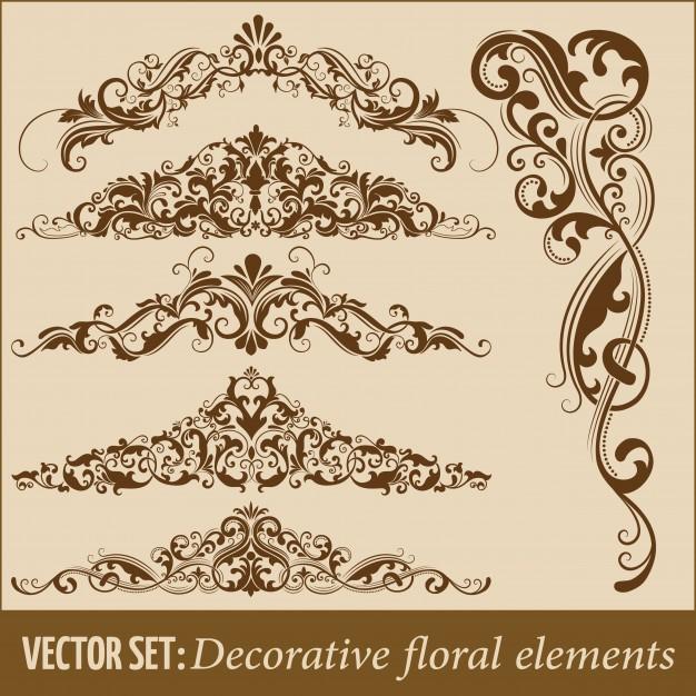 Set Of Hand Drawn Decorative Vector