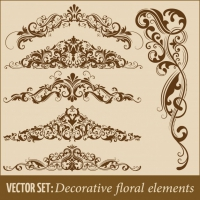 Set Of Hand Drawn Decorative Vector