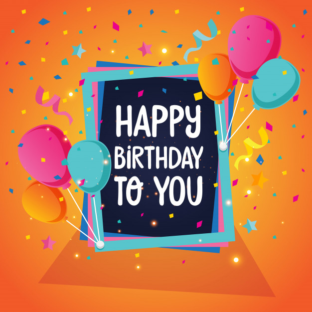 Balloon Theme Happy Birthday Card