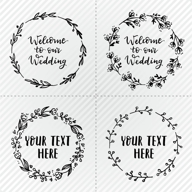 Simple Wedding Wreaths