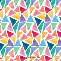 Colorful Watercolor Triangles Pattern