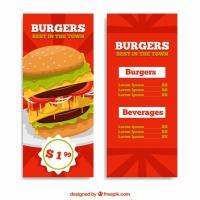 Burger Menu With Offer