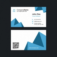 Blue Shapes Business Card