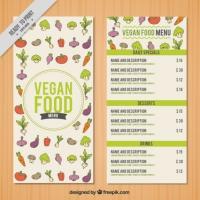 Hand Drawn Little Vegetables Menu Template