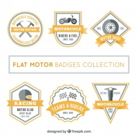 Flat Motor Badges Collection