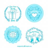 Hand Drawn Charity Badges