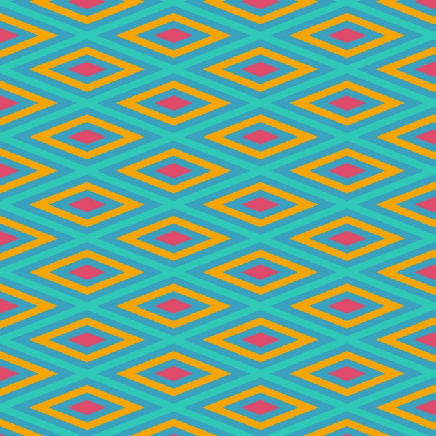 Coloured Rhombus Shapes Pattern