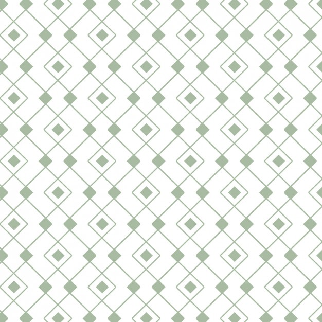 Pattern Made Of Green Outlined Shapes