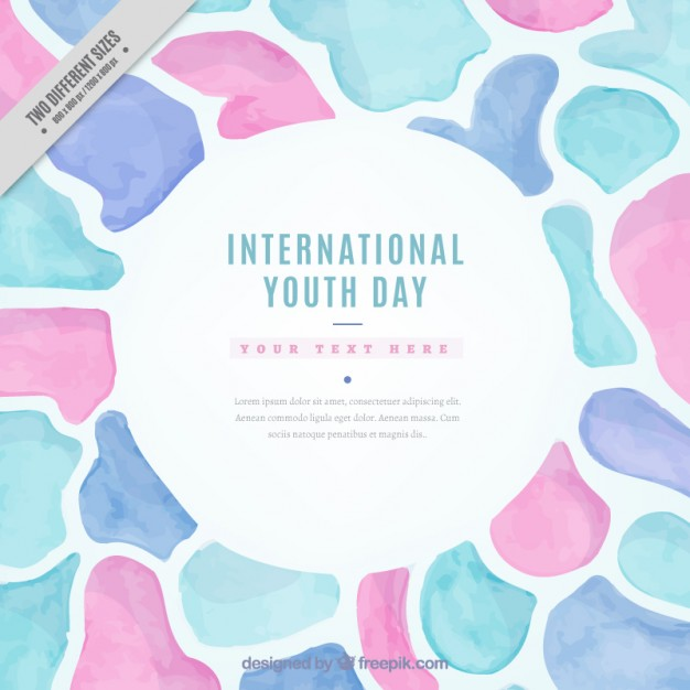 Watercolor Abstract Shapes Youth Day Background