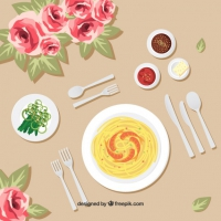 Spaguetti Dish Background