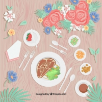 Meat Dish Background