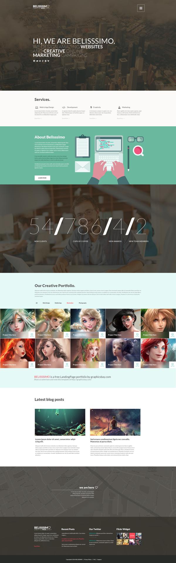 One Page Portfolio Template Free
