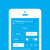Mobile UI Blueprint Free Download