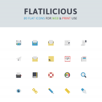 Flatilicious: 80 Free Icons