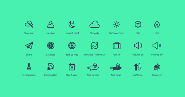 Planetary Icon Set Free Download
