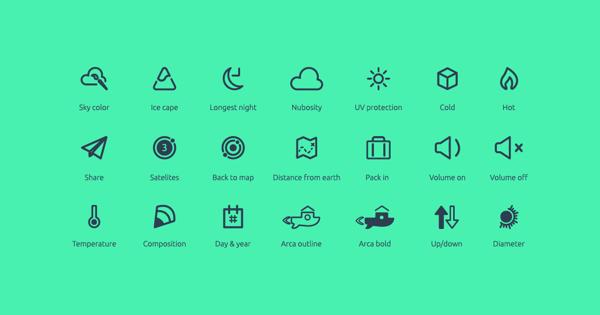 Planetary Icon Set Free Download