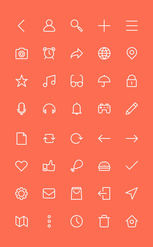 Free 40 Outline Icons