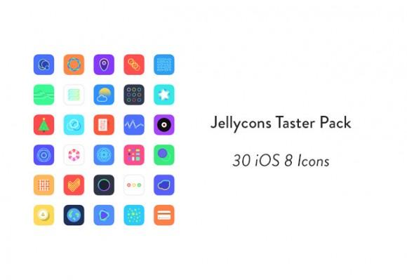 Freebie: Jellycons iOS 8 App Icon Set