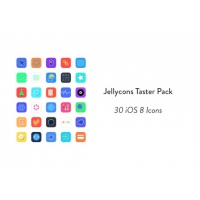 Freebie: Jellycons iOS 8 App Icon Set